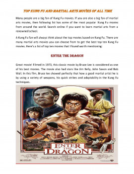 Top Kung Fu and Martial Arts Movies of All Time
