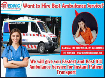 Avail the Budget friendly Ambulance Service in Chatarpur and Mangolpuri, Delhi by Medivic
