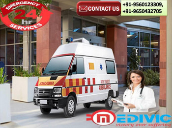 Hire the fastest Road Ambulance Service in Chanakyapuri and Karolbagh, Delhi by Medivic