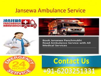 Best Ground Road Ambulance Service in Katihar and Samastipur by Jansewa Panchmukhi Ambulance